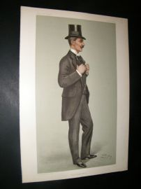 Vanity Fair Print 1902 Alwyne Frederick Compton, Stock Exchange & Rower